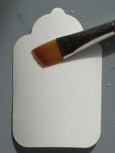 How to paint a watercolor card. Using Watercolor Paints In Your Papercrafting  - Step 6