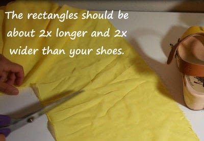 How to make a sandal / flip flop. Revamped Ruffled Chiffon Shoes - Step 3