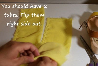 How to make a sandal / flip flop. Revamped Ruffled Chiffon Shoes - Step 5