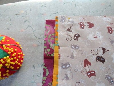 How to make a patchwork quilt. Apple Blossom Quilt - Step 3