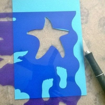 How to make a greetings card. Beachy Shaker Wedding Card - Step 1