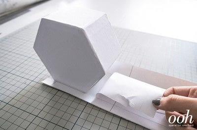 How to make a decoupage box. Marble Hexagon Box - Step 4