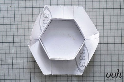 How to make a decoupage box. Marble Hexagon Box - Step 15