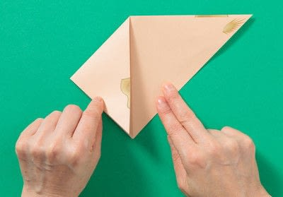 How to fold an origami animal. Puppet - Step 2