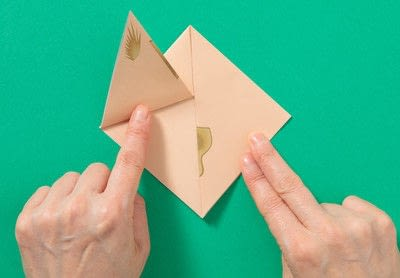 How to fold an origami animal. Puppet - Step 3