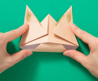 How to fold an origami animal. Puppet - Step 6