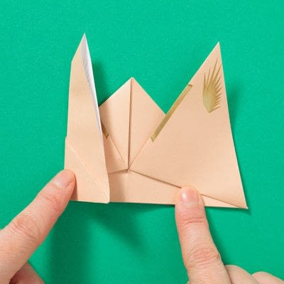 How to fold an origami animal. Puppet - Step 7
