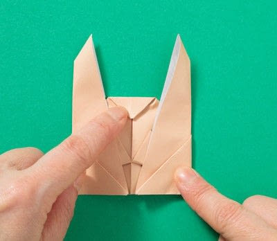 How to fold an origami animal. Puppet - Step 8