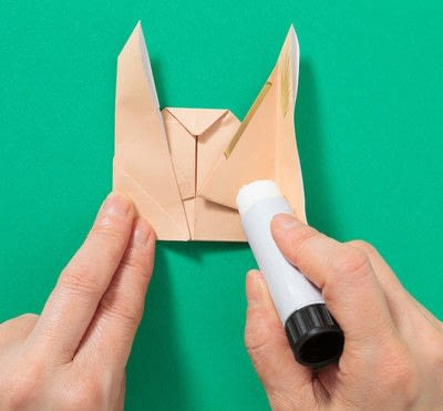 How to fold an origami animal. Puppet - Step 9
