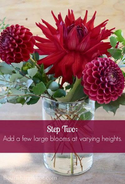 How to make a bouquet. An Autumnal Floral Arrangement - Step 2