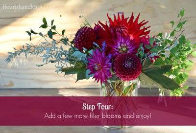 How to make a bouquet. An Autumnal Floral Arrangement - Step 4