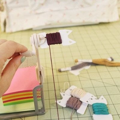 How to make a thread holder. Embroidery Thread Pocket Organizer - Step 1