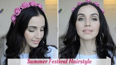 How to style a braid / plait. 3 Summer Festival Hairstyles  Easy & Fast! - Step 2