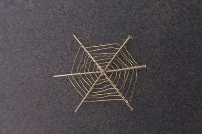 How to make a pair of wire earrings. Cobweb Earrings - Step 3