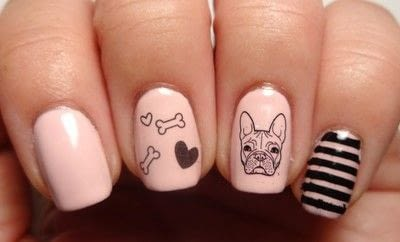 How to paint an animal nail. French Fido - Step 3