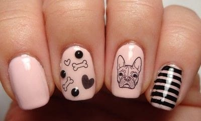 How to paint an animal nail. French Fido - Step 4