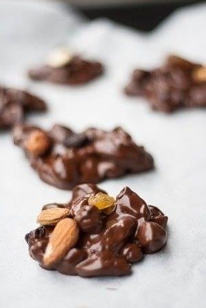 How to make a chocolate bar. Trial Mix Chocolate Bites - Step 4