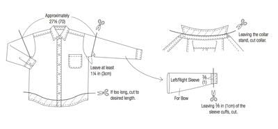 How to make a bow top. Big Bow Blouse - Step 1