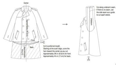How to make a trench / mac. Trench Coat Poncho - Step 1