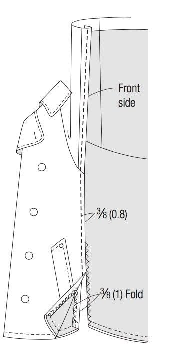 How to make a trench / mac. Trench Coat Poncho - Step 3