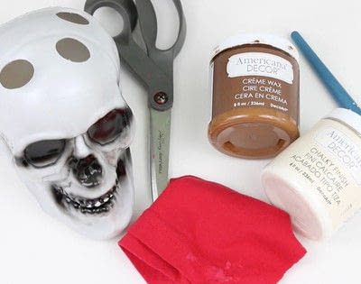 How to make a vase, pot or planter. Succulent Skull - Step 1