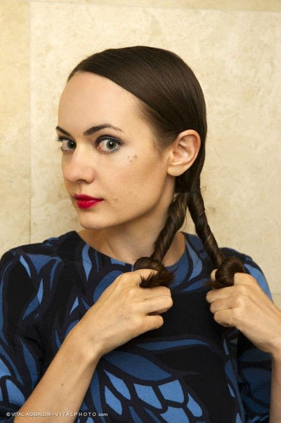 How to style a ponytail. Twisted Ponytail - Step 5