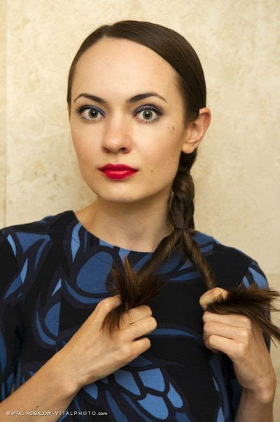 How to style a ponytail. Twisted Ponytail - Step 7