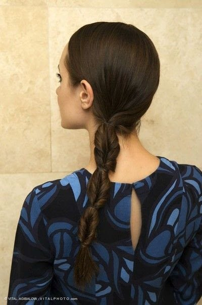 How to style a ponytail. Twisted Ponytail - Step 9