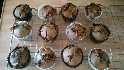 How to bake a chocolate chip muffin. Marshmallow & Chocolate Chip Muffins  - Step 8