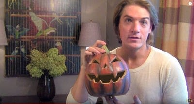 How to decorate a pumpkin. Barry's Pumpkin Scarecrow - Step 4