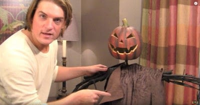 How to decorate a pumpkin. Barry's Pumpkin Scarecrow - Step 11