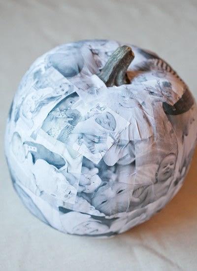 How to decorate a pumpkin. Decoupage Photo Pumpkin - Step 6