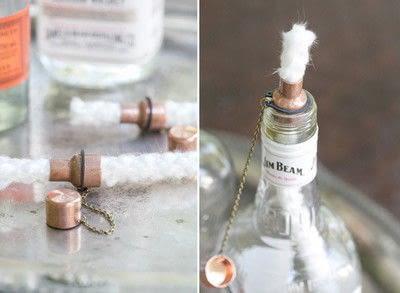 How to make a lantern. Diy Tiki Torch Bottles - Step 3