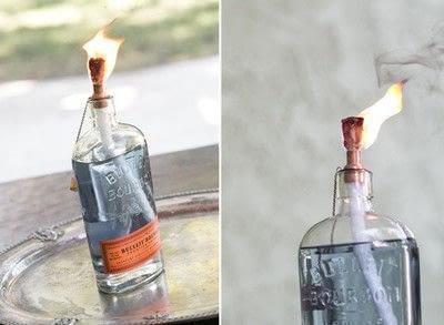 How to make a lantern. Diy Tiki Torch Bottles - Step 4
