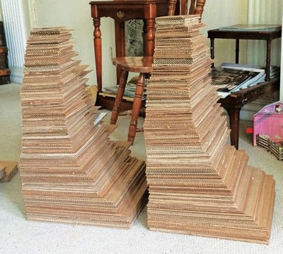 How to make a recycled table. Stacked Table - Step 3