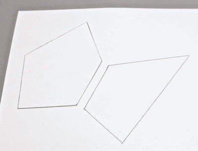 How to make a piece of paper art. Polygon Sculpture - Step 1