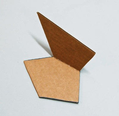 How to make a piece of paper art. Polygon Sculpture - Step 3