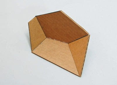 How to make a piece of paper art. Polygon Sculpture - Step 5