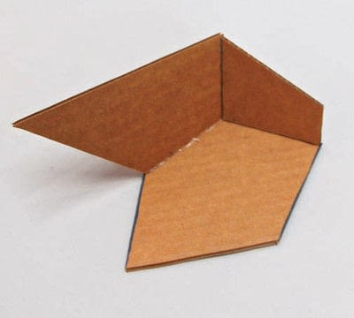 How to make a piece of paper art. Polygon Sculpture - Step 6