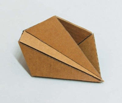 How to make a piece of paper art. Polygon Sculpture - Step 7