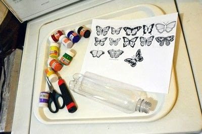 How to make a piece of recycled art. Plastic Bottle Butterfly - Step 1