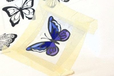 How to make a piece of recycled art. Plastic Bottle Butterfly - Step 2