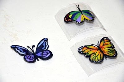 How to make a piece of recycled art. Plastic Bottle Butterfly - Step 4
