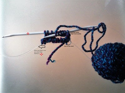 How to knit . Magic Loop - Step 4