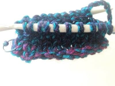 How to knit . Magic Loop - Step 5