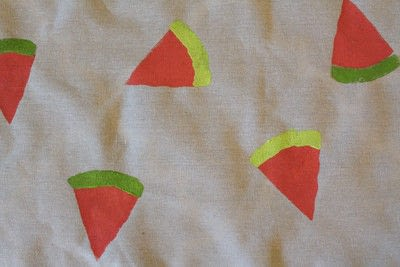 How to make a quilted blanket. Watermelon Picnic Blanket - Step 8