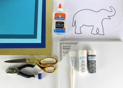 How to decorate a canvas. 30 Minute Elephant Canvas - Step 1
