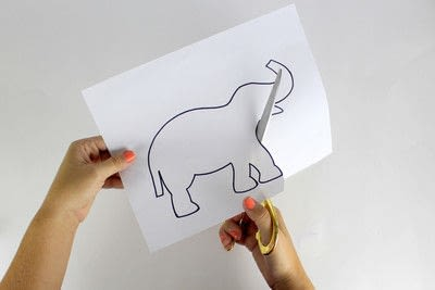How to decorate a canvas. 30 Minute Elephant Canvas - Step 5