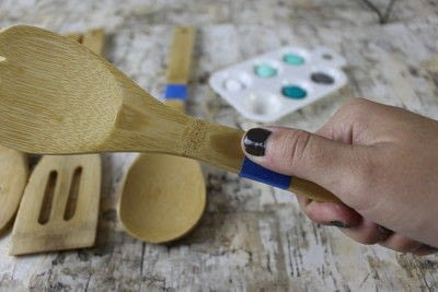 How to make a kitchen utensil. Painted Kitchen Utensils  - Step 3