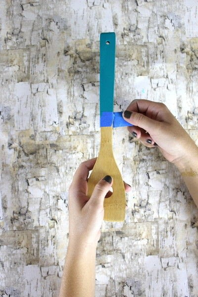 How to make a kitchen utensil. Painted Kitchen Utensils  - Step 7